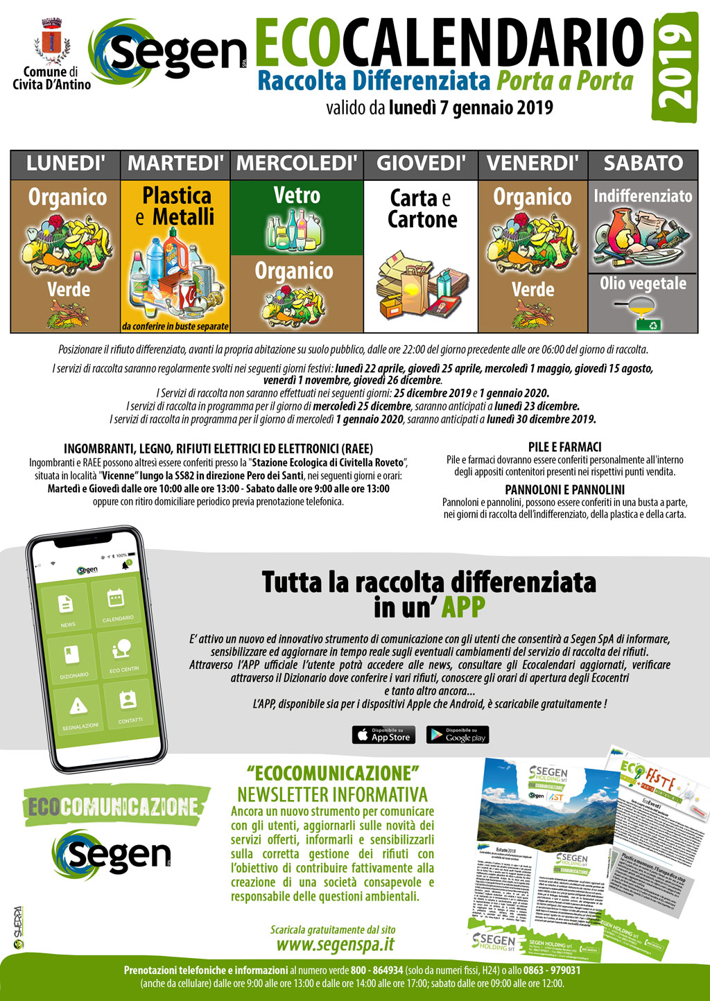 Raccolta Differenziata - ecoCalendario 2019