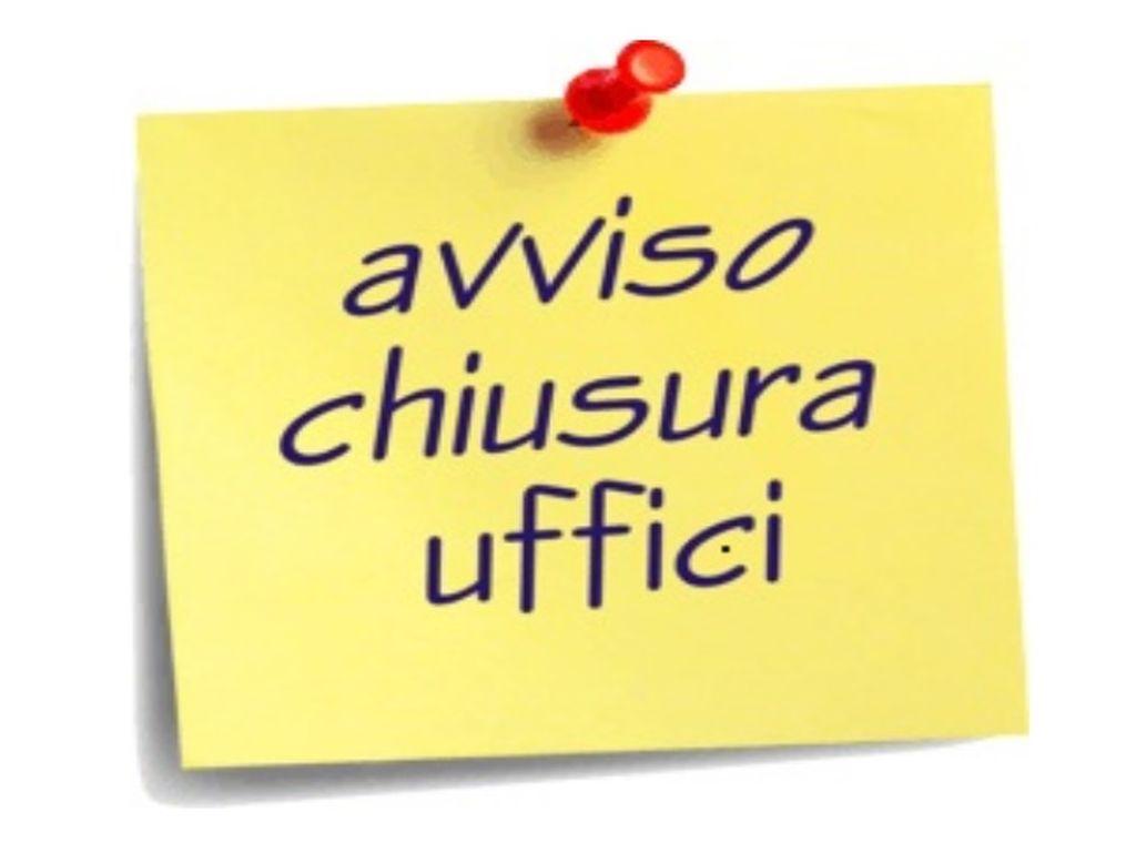 Avviso Pubblico: chiusura degli Uffici Comunali nella giornata di Sabato 2 Novembre