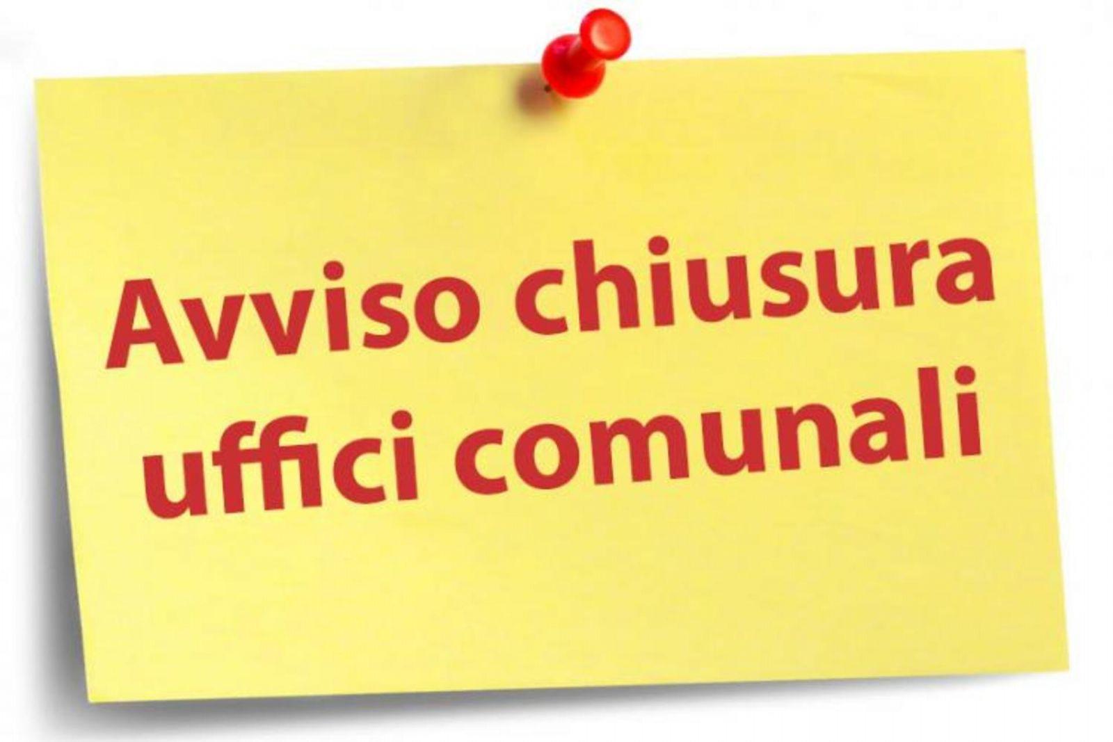 Decreto n.3 del 12.06.2020 - Chiusura al pubblico degli uffici Comunali in data 13 Giugno 2020