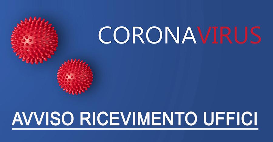 COVID-19 - nuove modalita' di ricevimento al pubblico per gli uffici comunali